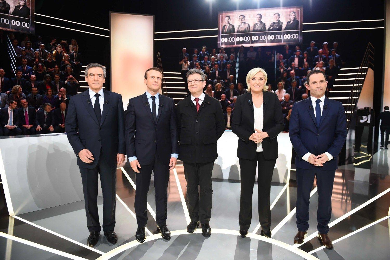 Prancūzijos prezidento rinkimų debatuose dominavo imigracija ir ekonomika