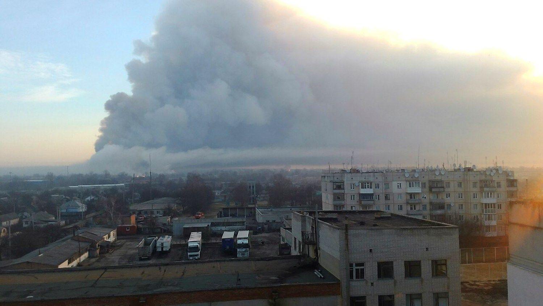 Didžiulis sprogimas Ukrainos karinėjebazėje, 20.000 žmonių evakuota