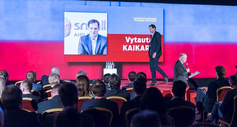 """Vytautas Kaikaris, įmonių grupės """"SmallPlanetAirlines"""" vadovas sako, kad vienos nesėkmės priežasties nebūna. Ryčio Galadausko (VŽ) nuotr."""