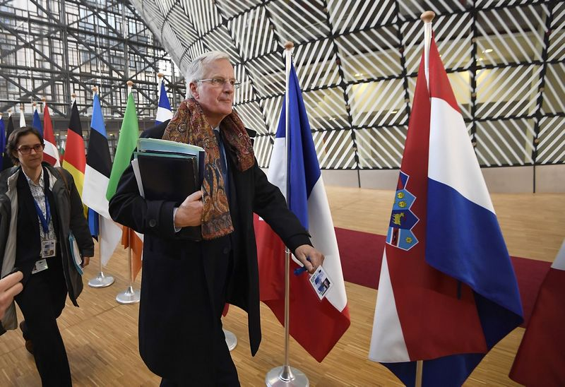 "Michelis Barnier, ES vyriausiasis derybininkas ""Brexit"" derybose. Dylano Martinezo (""Reuters"" / ""Scanpix"") nuotr."