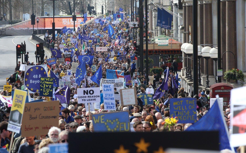 Londone – protestas prieš Brexit