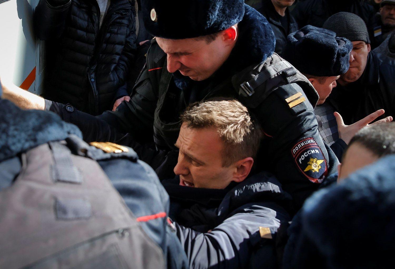 Rusijoje – dideli protestai prieš valdžios korupciją