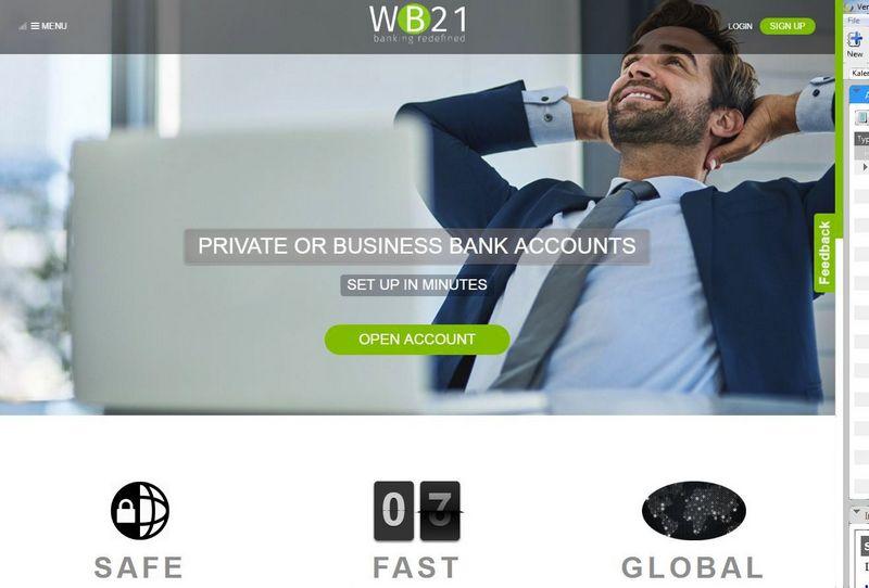 WB21 internetinis puslapis. VŽ ekrano nuotr.