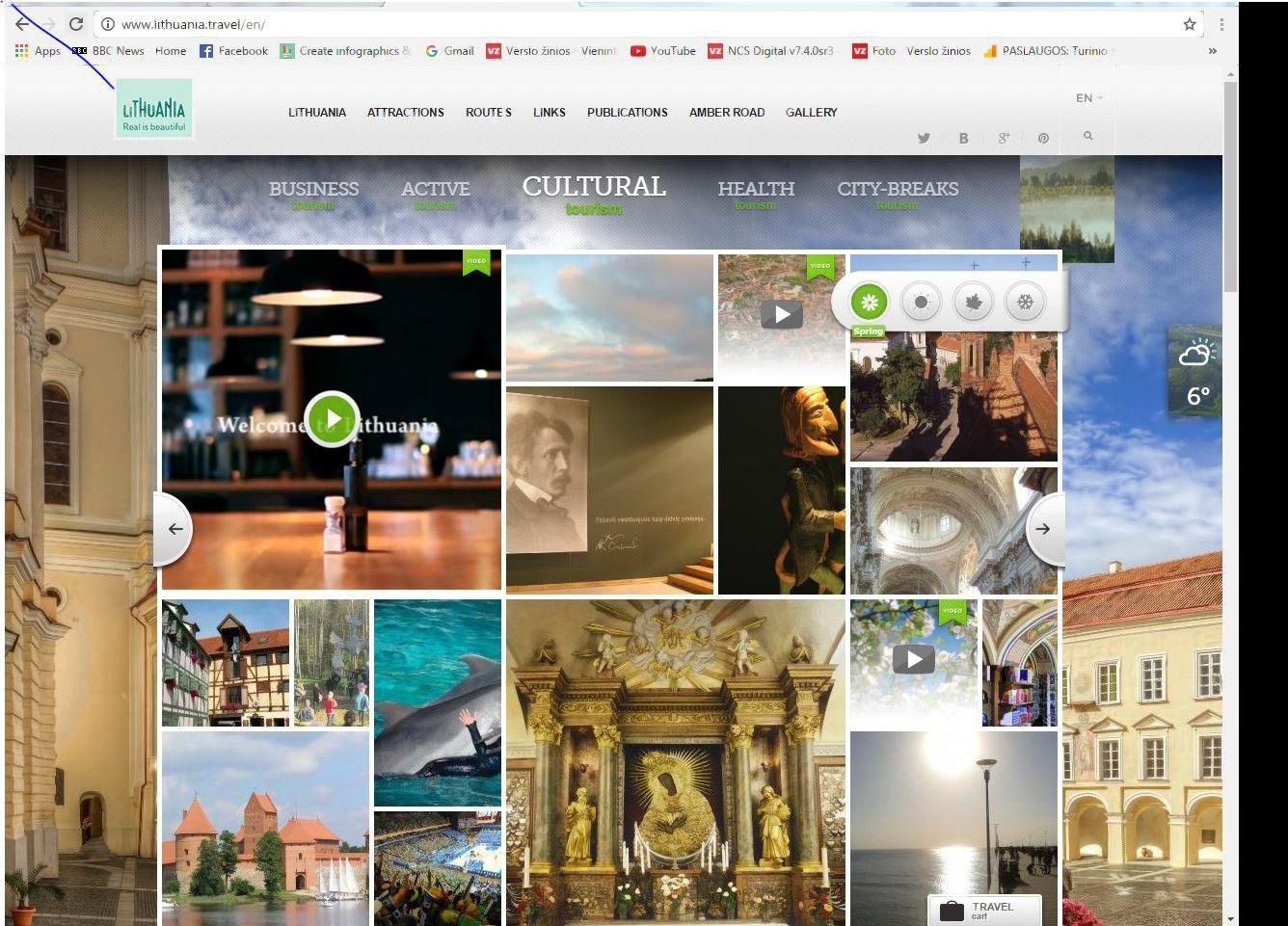 Kurs naują Lietuvos turizmo svetainę