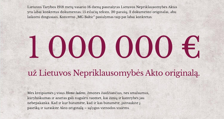 """Milijono, reputacijos ir improvizacijos dilema su """"MG Baltic"""" vardu"""