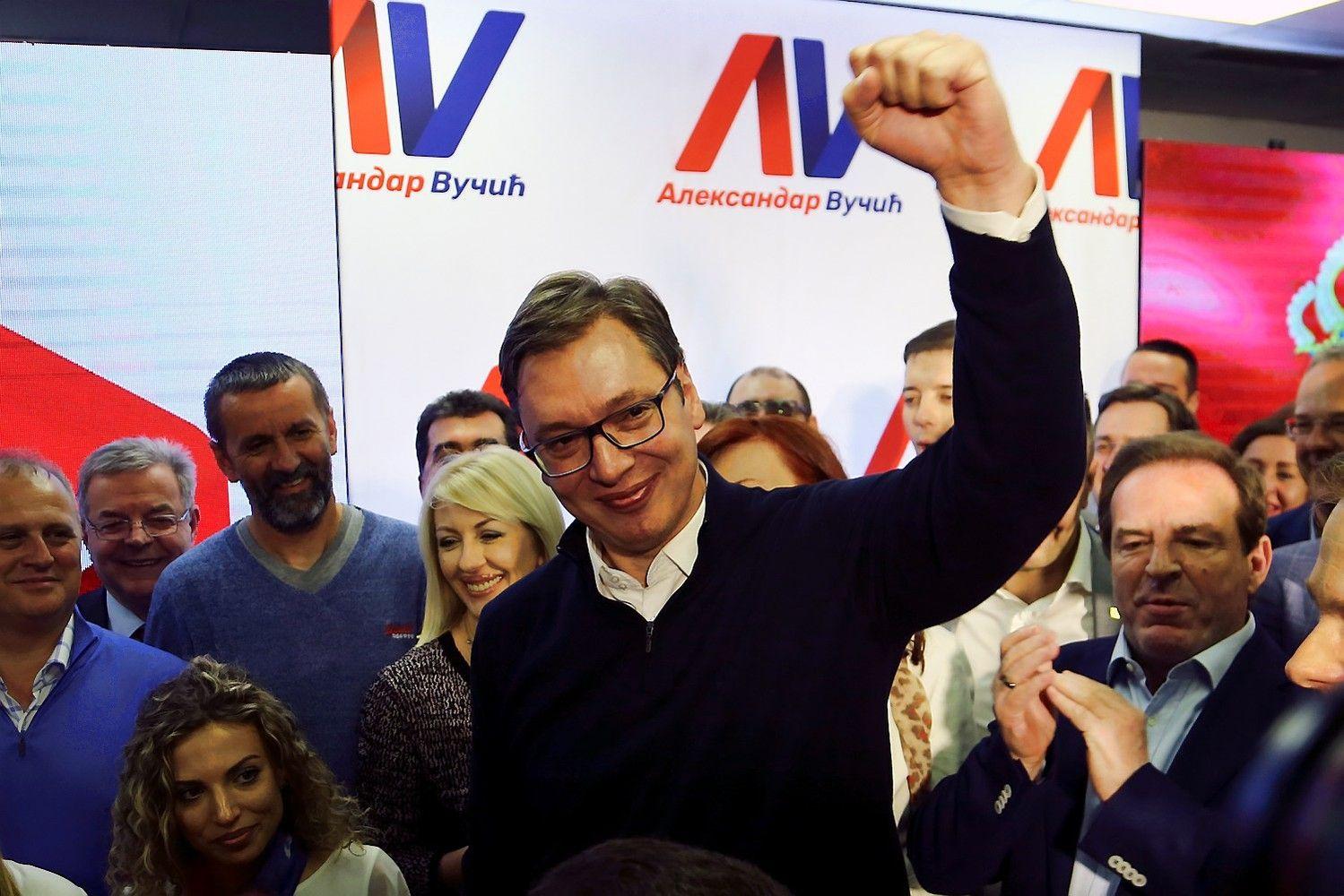 Serbijos prezidento rinkimus laimėjo Vučičius