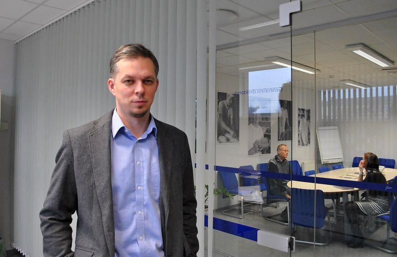 """Mindaugas Snarskis, UAB """"Fazer Bakery Baltic"""" generalinis direktorius."""
