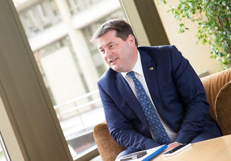 Airijos Europos reikalų valstybės ministras Dara Murphy. Juditos Grigelytės (VŽ) nuotr.