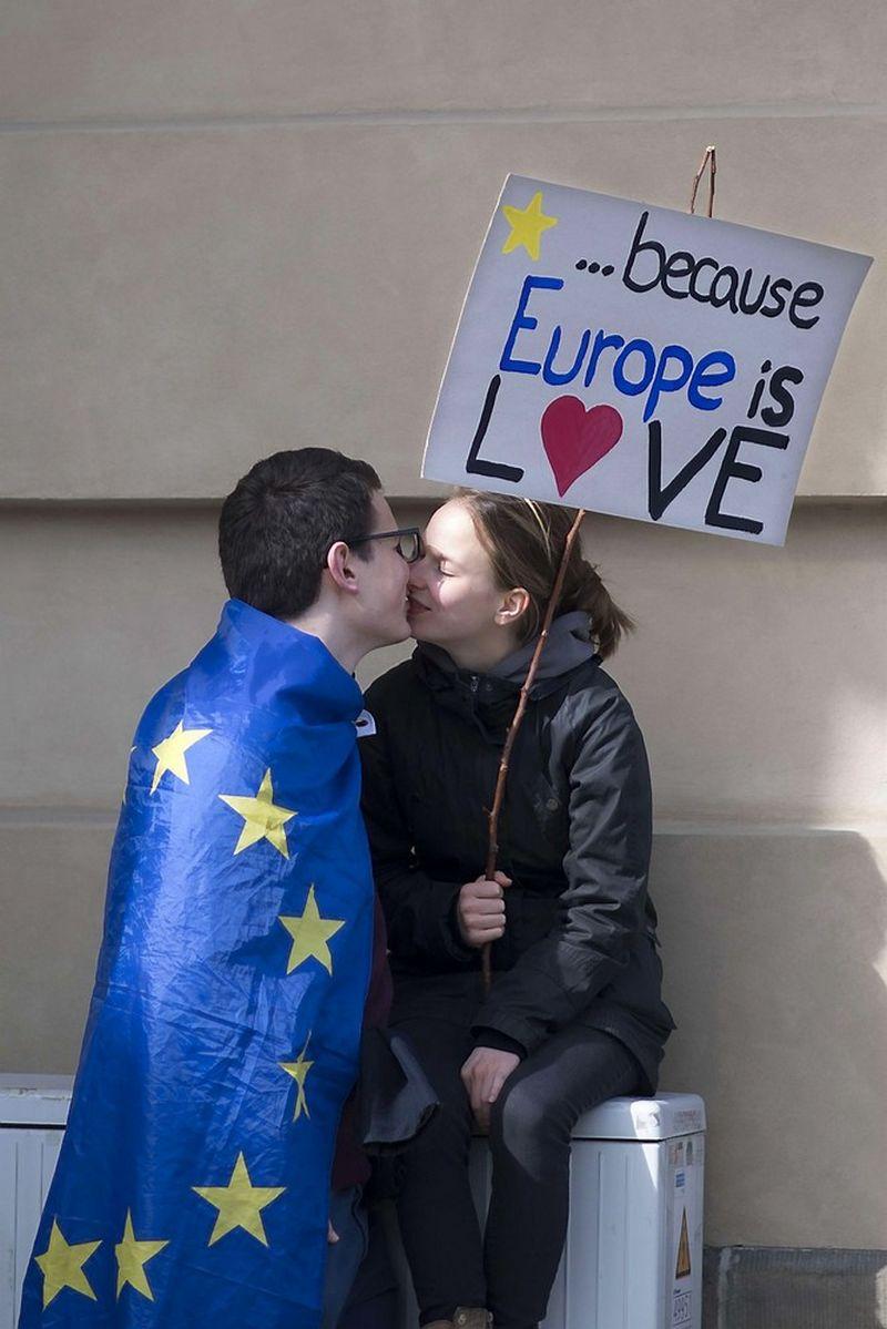 Jeigu Europos Sąjungos nebeliktų, o Briuselis vėl būtų tik Belgijos sostinė, būtų be galo liūdna. SIPA nuotr.