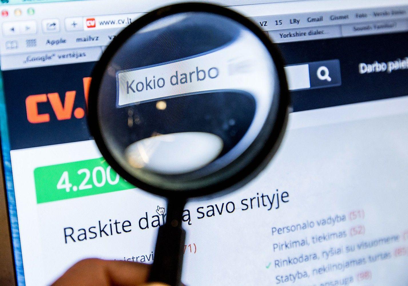 TOP cv.lt: paklausiausios profesijos Lietuvoje