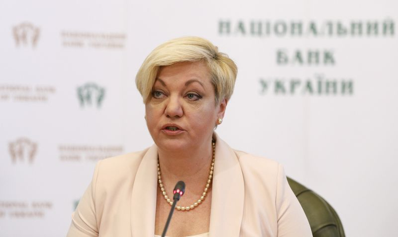 "Valerija Gontareva, Ukrainos centrinio banko vadovė. Valentyno Ogirenko (""Reuters"" / ""Scanpix"") nuotr."
