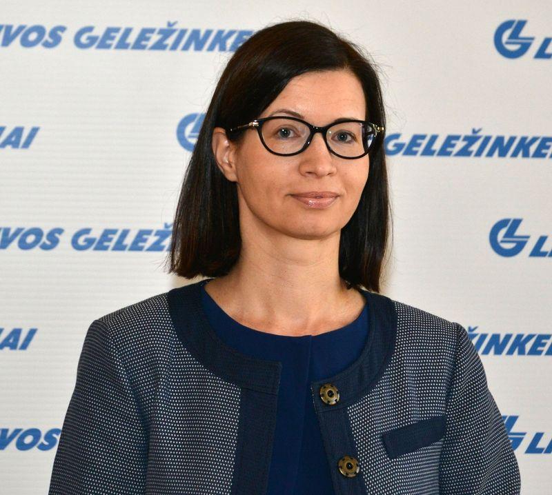 """Edita Steponavičienė, """"Lietuvos geležinkelių Apskaitos paslaugų centro vadovė. Bendrovės nuotr."""