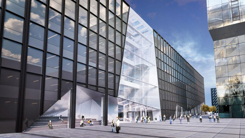 """""""Hanner"""" pradėjo statyti verslo centrą """"Žalgirio"""" stadiono teritorijoje"""