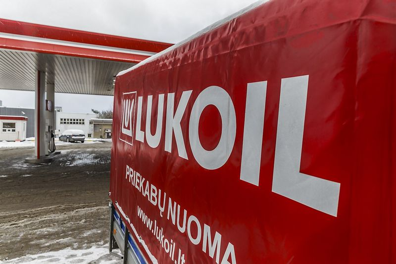 """Lukoil"" degalinė Vilniuje. Vladimiro Ivanovo (VŽ) nuotr."