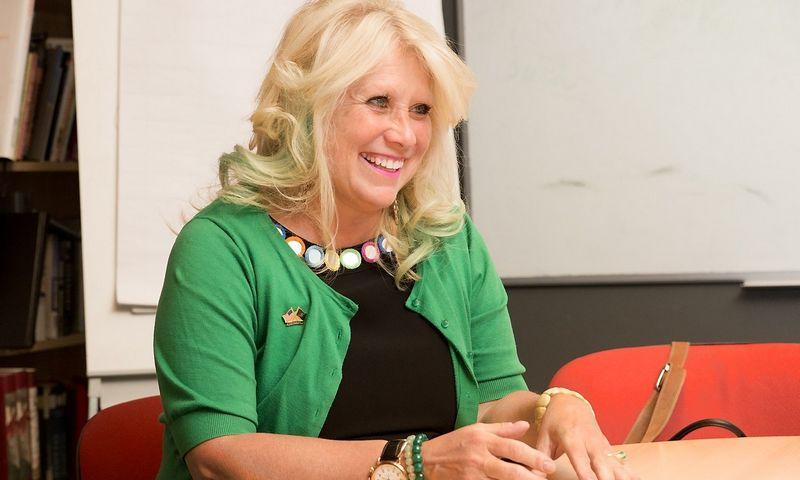 """Cynthia Pasky, JAV informacinių technologijų sprendimų, konsultavimo ir personalo valdymo bendrovės """"Strategic Staffing Solutions"""" steigėja ir vadovė. Juditos Grigelytės (VŽ) nuotr."""