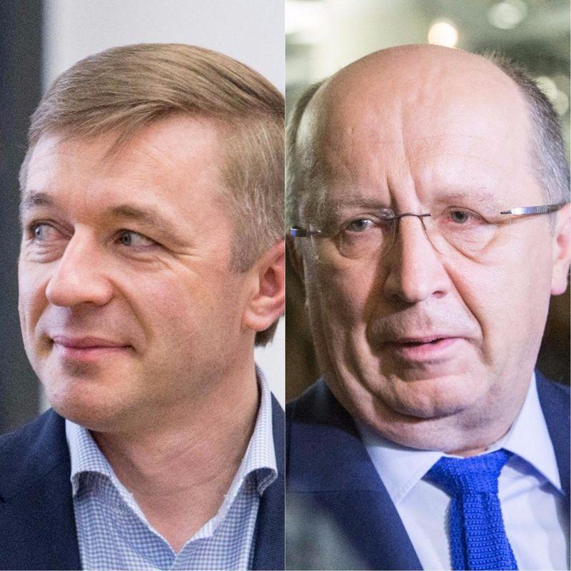 Iš kairės Seimo nariai: Ramūnas Karbauskis ir Andrius Kubilius. VŽ montažas