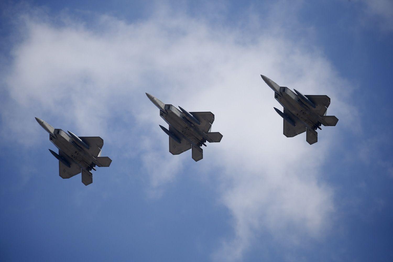 JAV kariniai orlaiviai prie Aliaskos kilo palydėti Rusijos bombonešių