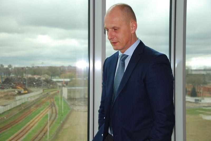 Vidmantas Dambrauskas, naujasis Lietuvos jūrų krovos kompanijų asociacijos prezidentas ir UAB Birių krovinių terminalo generalinis direktorius. Mildos Ancevičės (VŽ) nuotr.