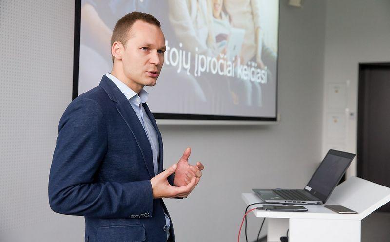 """Evaldas Tylas, """"Viaplay"""" komercijos vadovas Baltijos šalyse. Juditos Grigelytės (VŽ) nuotr."""