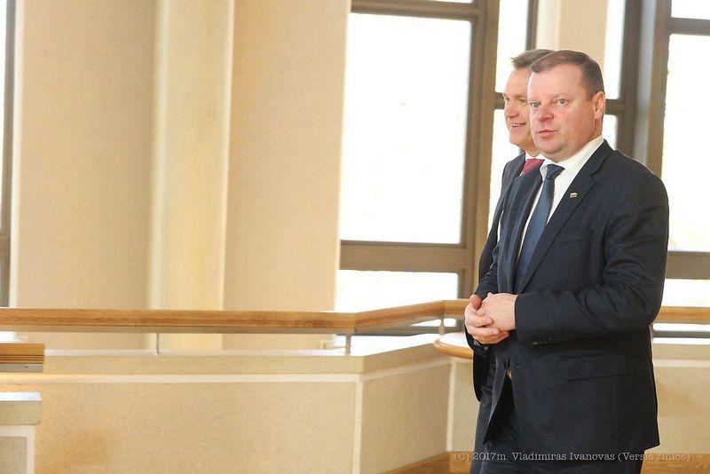 Saulius Skvernelis, Robertas Dargis. Vladimiro Ivanovo (VŽ) nuotr.