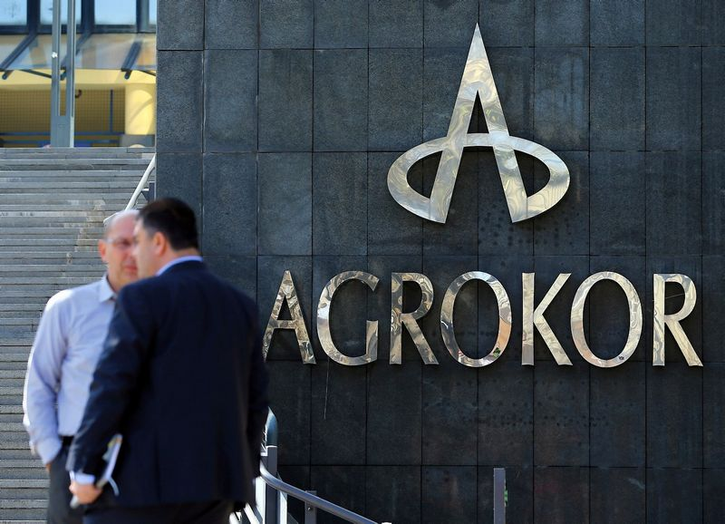 """""""Agrokor"""" būstinė Zagrebe. Antonio Broničiaus (""""Reuters"""" / """"Scanpix"""") nuotr."""