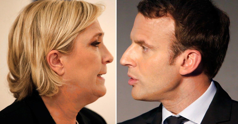 Prancūzijos prezidento rinkimai: Macronas ir Le Pen priekyje