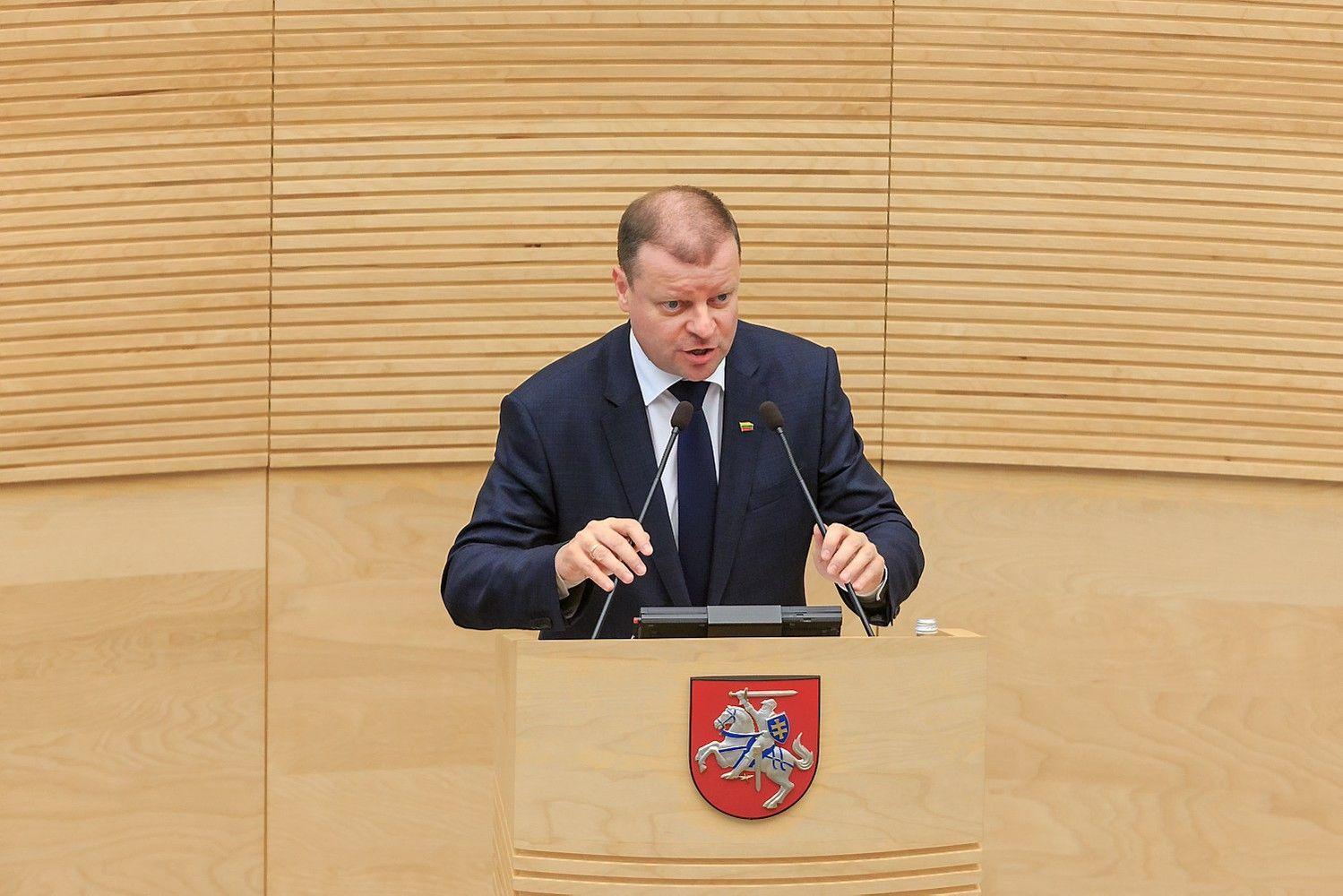 Premjeras opozicijai: nereikia klaidinti – Vyriausybė turi prioritetus