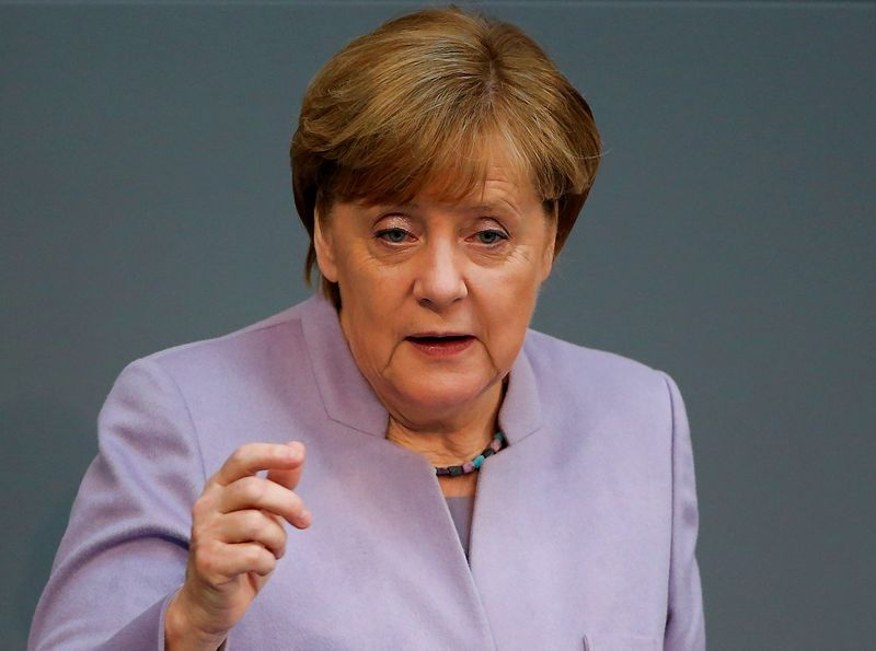 "Vokietijos kanclerė Angela Merkel. Hannibalo Hanschke (""Reuters"" / ""Scanpix"") nuotr."