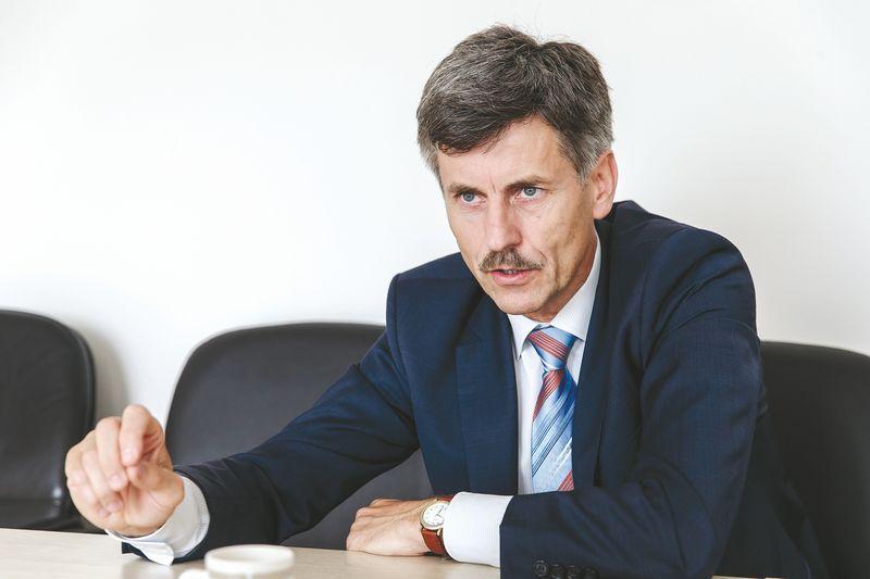 """Dalius Gedvilas, Lietuvos statybininkų asociacijos prezidentas: """"Šiandien statyba tampa vis labiau skaitmeninė, todėl būtų neteisinga manyti, kad viena bendrovė visus pagrindinius darbus gali padaryti savo jėgomis."""" Vladimiro Ivanovo (VŽ) nuotr."""