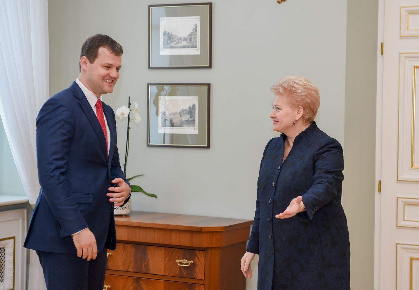 Prezidentė apie aktualijas pasikalbėjo su naujuoju LSDP lyderiu