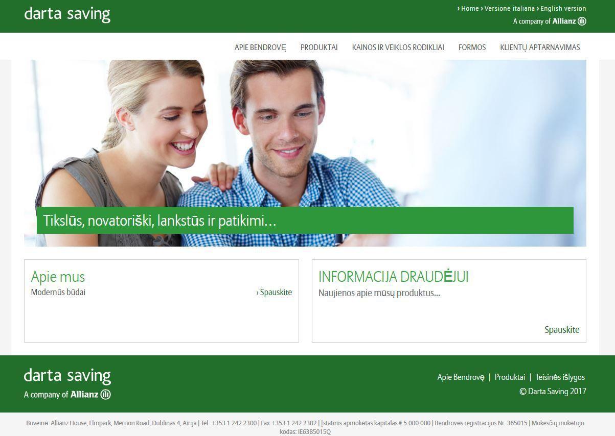 """""""Allianz"""" bendrovė dairosi veiklos Lietuvoje"""