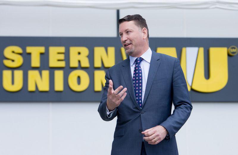 """Davidas Thompsonas, """"Western Union"""" operacijų ir technologijų viceprezidentas. Juditos Grigelytės (VŽ) nuotr."""