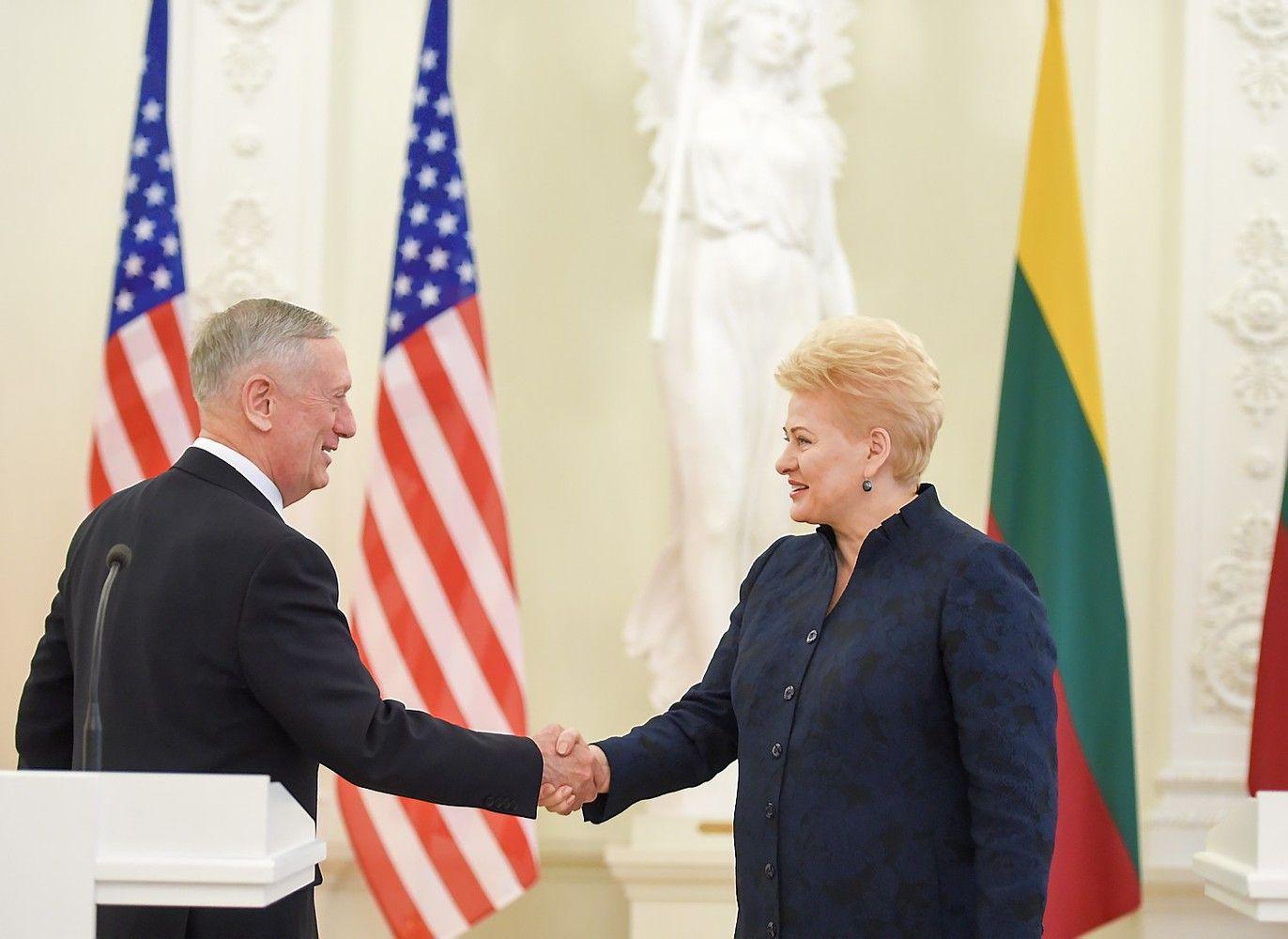 Grybauskaitę aplankė JAV gynybos sekretorius