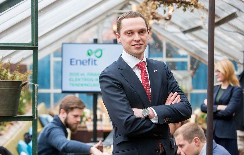 """2017 03 07. Baltijos šalių energijos gamintojos """"Eesti Energia"""" antrinės bendrovės Lietuvoje """"Enefit"""" spaudos konferencija. Janis Bethers, """"Enefit"""" generalinis direktorius. Juditos Grigelytės (VŽ) nuotr."""