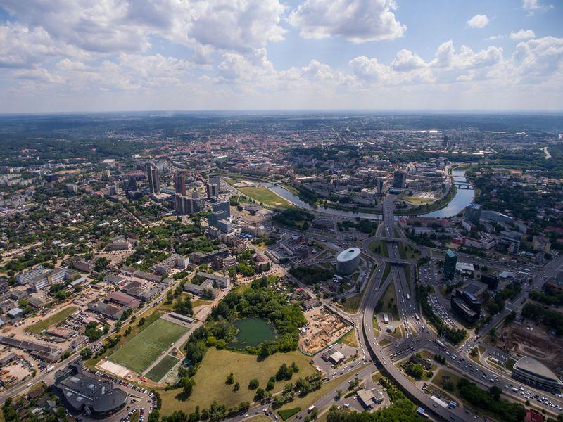 2016 06 01.  Vilniaus miesto panorama.  Vladimiro Ivanovo (VŽ) nuotr.