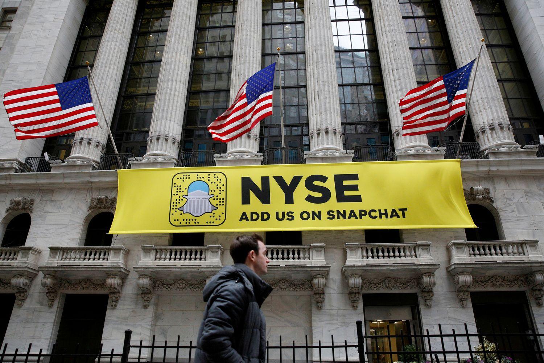 """Nuviliantys """"Snap"""" rezultatai akcijų kainų nurideno žemyn"""