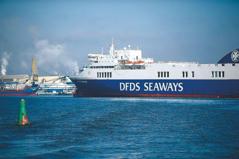 Laivybos padalinio veikla Baltijos jūros regione per pirmąjį ketvirtį į bendrą DFDS katilą generavo 45,8 mln. Eur pajamų. Vladimiro Ivanovo (VŽ) nuotr.