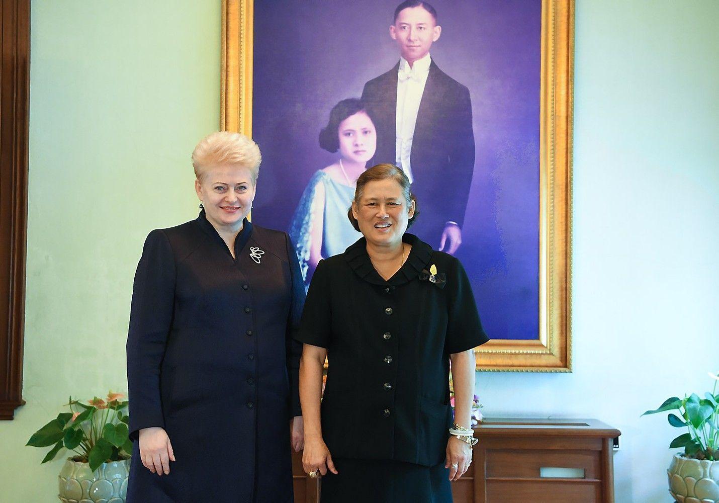Grybauskaitė susitiko su Tailando princese
