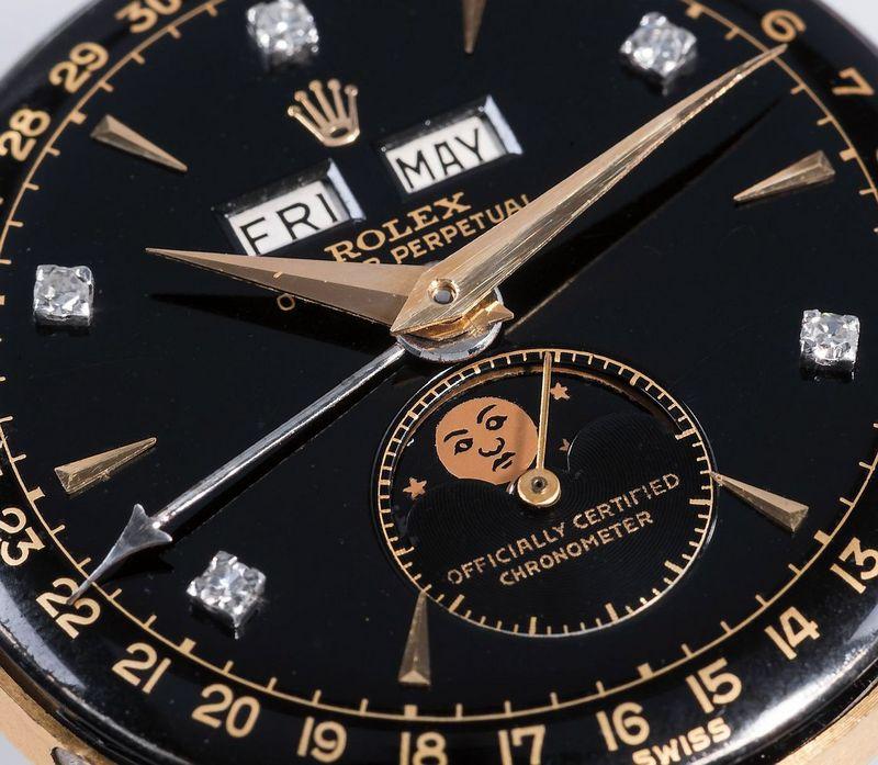 """""""Rolex"""" laikrodis """"Philips"""" laikrodžių aukcione Ženevoje parduotas už rekordinę sumą,– 5 mln. USD. """"Phillips.com"""" nuotr."""