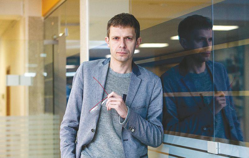 """Žurnalistas Andrius Tapinas, """"Laisvės"""" TV įkūrėjas ir iniciatorius.  Juditos Grigelytės (VŽ) nuotr."""