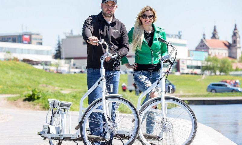 """Evaldas ir Ilona Uzielos, UAB """"Evo Sprendimai"""" bendraturčiai: """"Neįprasti dviračiai sudomino aktyvaus laisvalaikio mėgėjus."""" Juditos Grigelytės (VŽ) nuotr."""