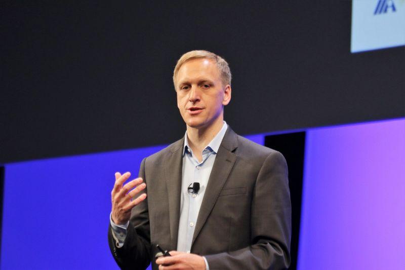 Juergenas Muelleris, programinės įrangos verslui kūrėjos SAP inovacijų vadovas. Dariaus Versecko (VŽ) nuotr.