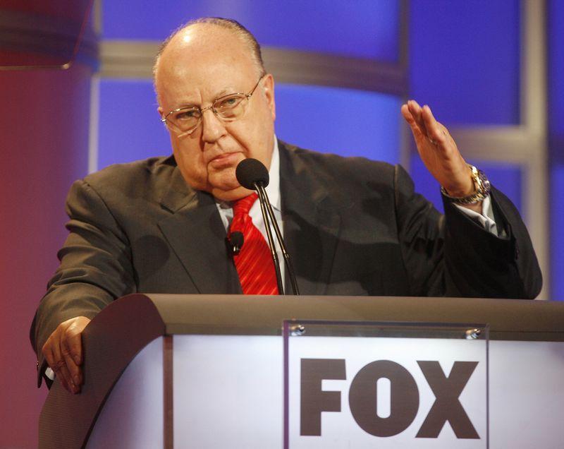 """Rogeris Ailesas, """"Fox"""" įkūrėjas. Fredo Prouserio (""""Reuters"""" / """"Scanpix"""") nuotr."""