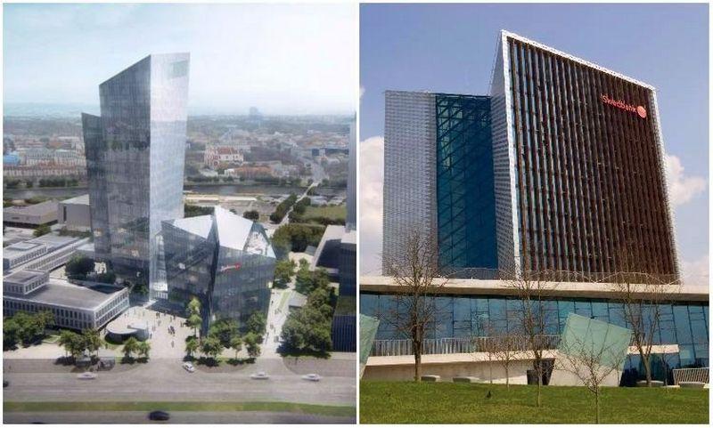 """Studio Libeskind"" sukurto ""k18B"" projekto vizualizacija (Studio Libeskind nuotr.) / ""Swedbank"" būstinė Konstitucijos pr."