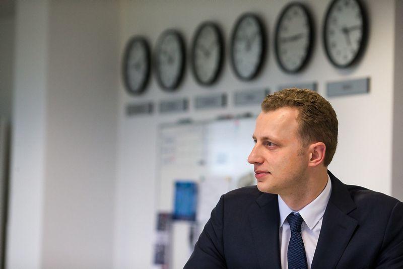 Tadas Peciukevičius, SEB banko Finansų maklerio skyriaus vadovas. Vladimiro Ivanovo (VŽ) nuotr.