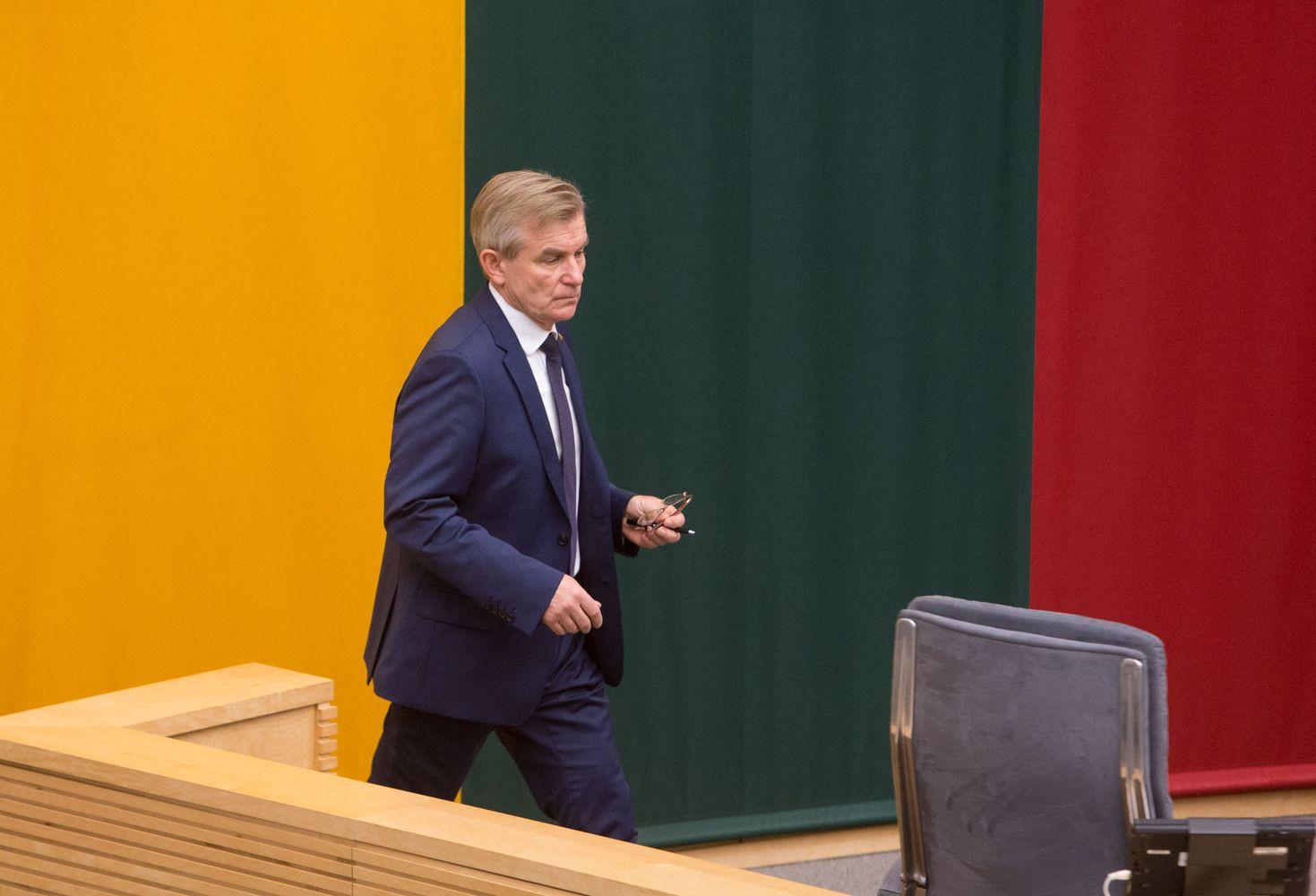 Seimo vadovas klausia Trišalės tarybos, ką daryti su Darbo kodeksu