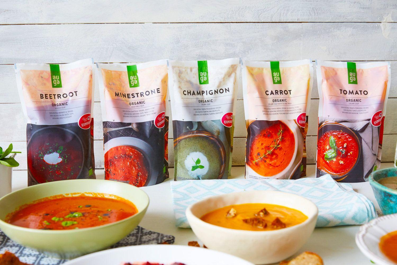 """""""Auga group"""" ėmėsi ekologiškų sriubų gamybos"""