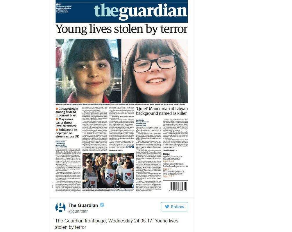Britų leidinių viršeliuose– teroro nusineštas 8-metės veidas