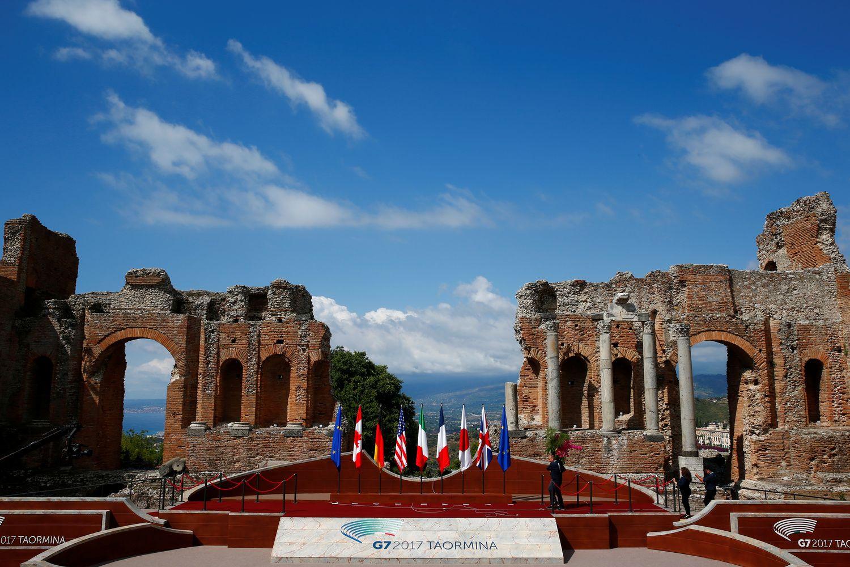 G7 viršūnių susitikimas Sicilijoje: šeši tarpusavyje sutariantys lyderiai ir Trumpas