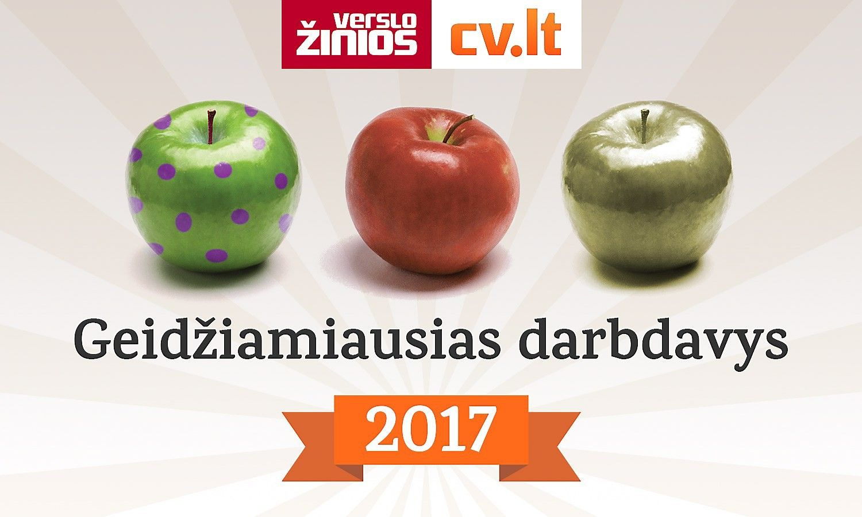 """""""Geidžiamiausias darbdavys 2017"""": paaiškėjo pusfinalio dalyviai"""